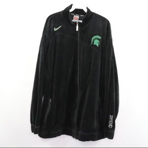 Nike Elite Michigan State Basketball Velour Jacket